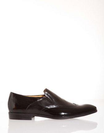 Mocassino nero lucido uomo Pittarello scarpe autunno inverno
