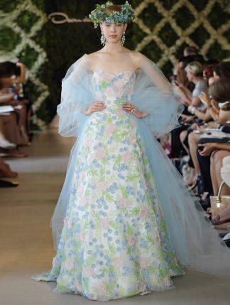 Moda sposa abiti con le stampe fantasia