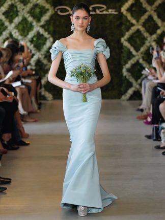 Moda sposa abiti verde menta