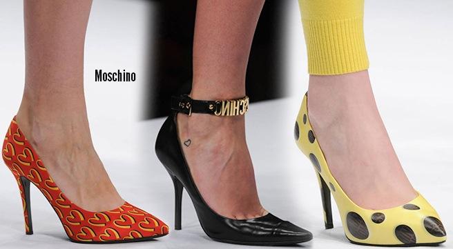 Moschino scarpe catalogo autunno inverno 2014 2015