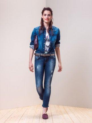 Motivi autunno inverno 2013 2014 jeans skiny e camicia