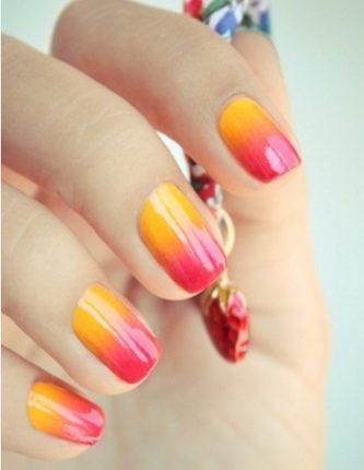 Nail art unghie decorazione bicolore 2013