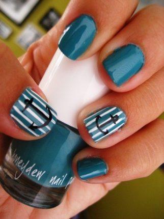 Nail art unghie stile marino 2013