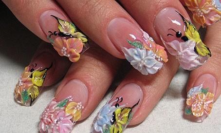Nail art 3d farfalle