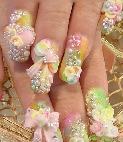 Nail art 3D giaponese