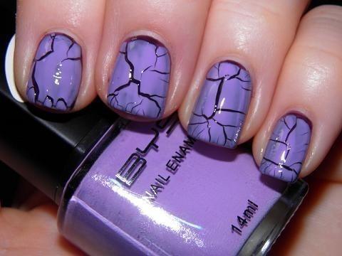 Nail art crackle unghie Halloween