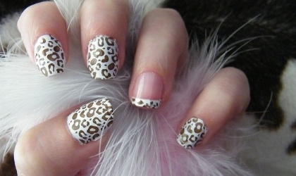 Nail art stampa animaglier