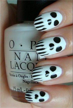 Nail art teschi fantasmi unghie Halloween
