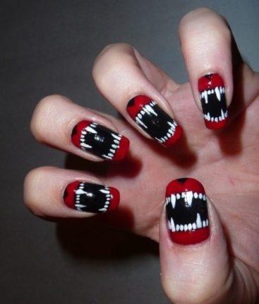 Nail art vampiri unghie Halloween