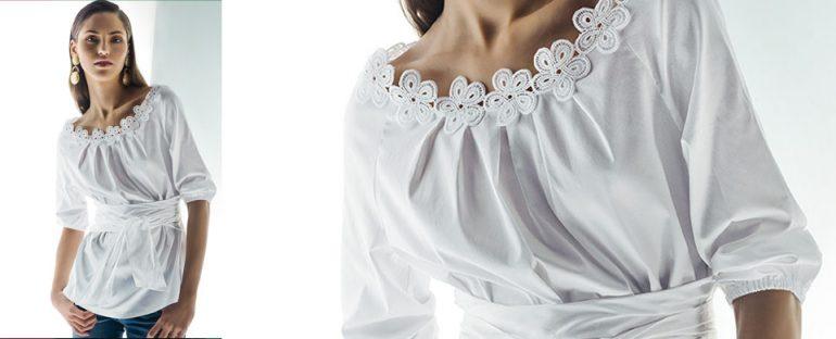 Nara Camicie primavera estate 2014 blusa con cintura donna