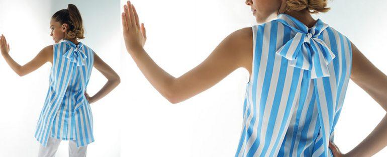 Nara Camicie primavera estate 2014 blusa particolare con fiocco dietro