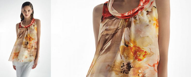 Nara Camicie primavera estate 2014 blusa smanicata