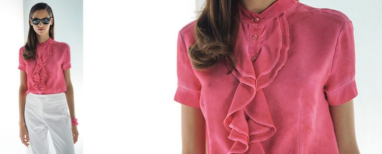 Nara Camicie primavera estate 2014 camicetta con rouches