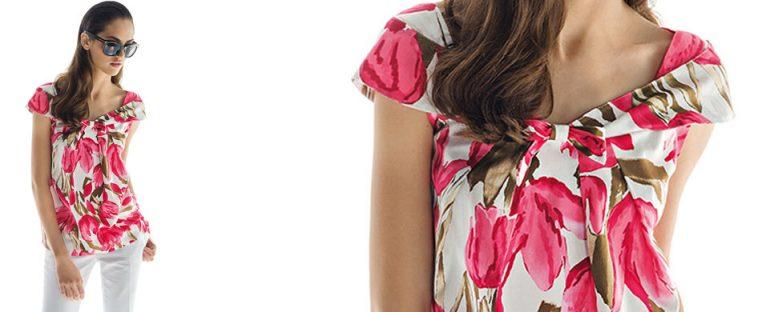 Nara Camicie primavera estate 2014 camicia donna fiori