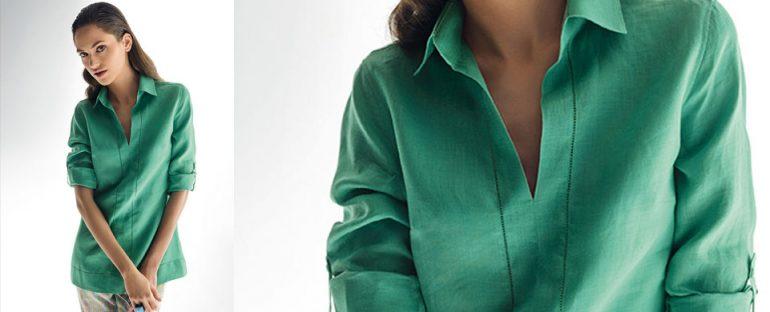 Nara Camicie primavera estate 2014 camicia donna lino