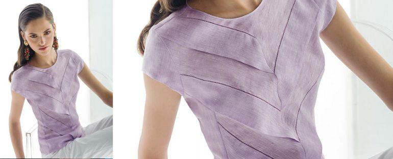 Nara Camicie primavera estate 2014 camicia lino con balze