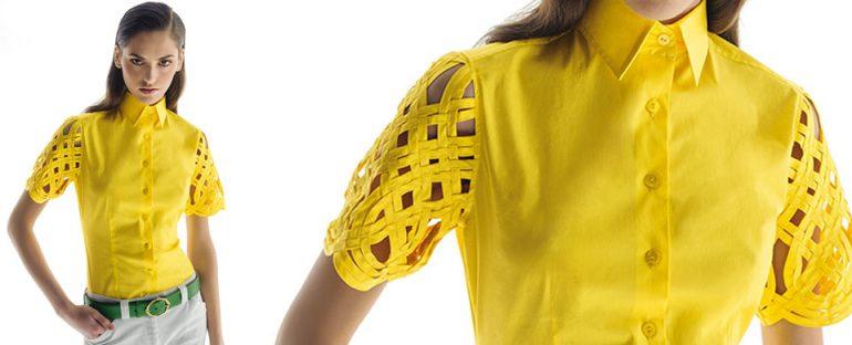 Nara Camicie primavera estate 2014 camicia maniche pizzo donna