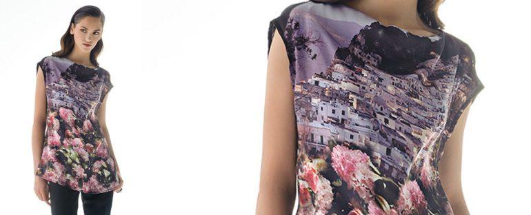 Nara Camicie primavera estate 2014 camicia stampa paesagio