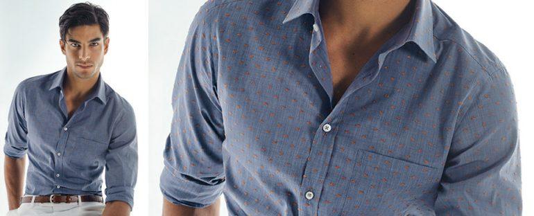 Nara Camicie primavera estate 2014 camicia uomo a pois