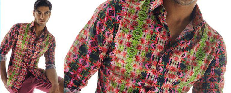 Nara Camicie primavera estate 2014 camicia uomo stampata