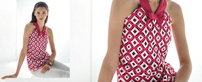 Nara Camicie primavera estate 2014 top con fiocco donna