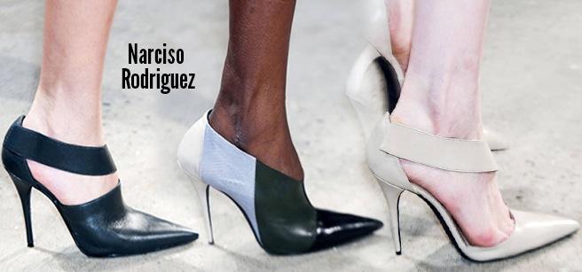 Narciso Rodriguez scarpe catalogo autunno inverno 2014 2015