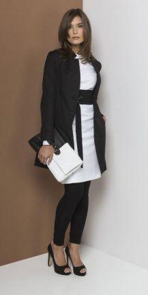 Outfit bianco nero Carla G primavera estate 2013