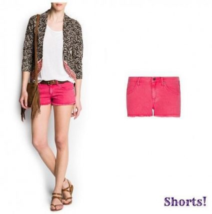 Pantaloncino di jeans fragola Mango primavera estate 2013