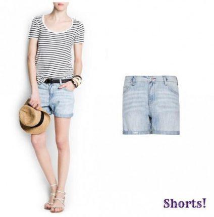 Pantaloncino di jeans Mango primavera estate 2013