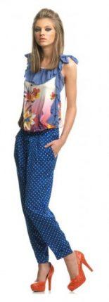 Pantalone con pois Fornarina primavera estate 2013