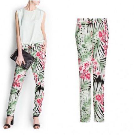 Pantalone floreale Mango primavera estate 2013
