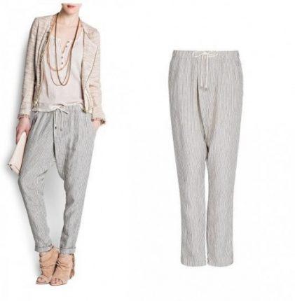 Pantalone largo a righe sottili Mango primavera estate 2013