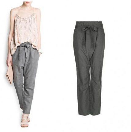 Pantalone morbido grigio Mango primavera estate 2013