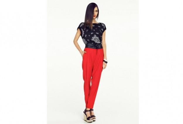 Pantalone rosso Mango primavera estate 2013