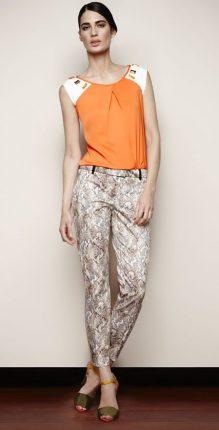 Pantalone stampato Oltre primavera estate 2013