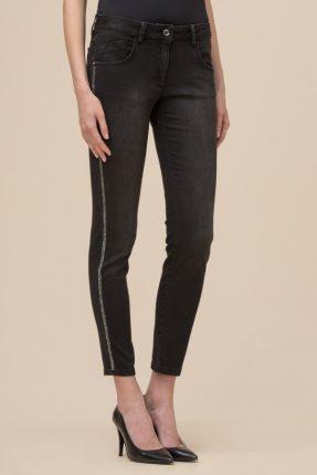 Pantalone stretch con banda laterale Luisa Spagnoli inverno 2017
