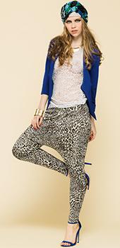 Pantaloni a cavallo basso leopardati Artigli primavera estate