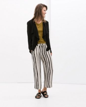 Pantaloni a righe Zara autunno inverno 2014 2015
