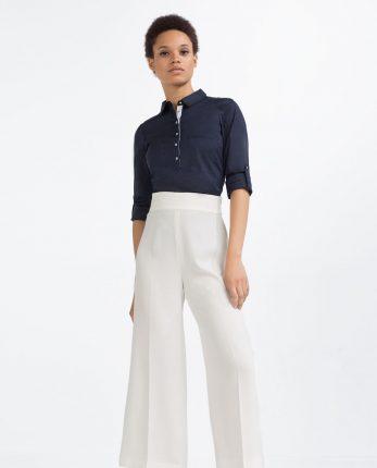 Pantaloni bianchi Zara primavera estate