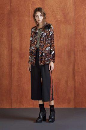 Pantaloni culotte bicolor Dixie autunno inverno 2017
