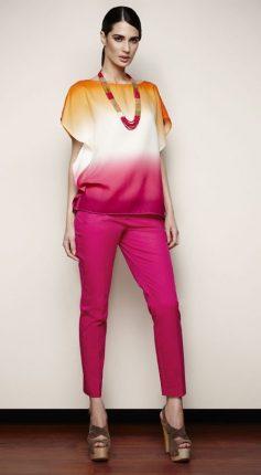 Pantaloni e maglia fucsia Oltre primavera estate 2013