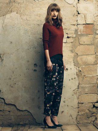 Pantaloni fiori Fornarina autunno inverno 2015