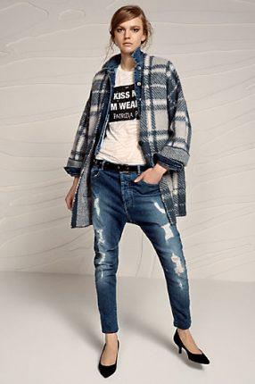 Pantaloni jeans con strapi Patrizia Pepe
