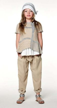Pantaloni sabia Twin Set bambini primavera estate 2013