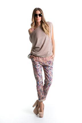 Pantaloni stampa fiori Giorgia & Johns primavera estate 2014