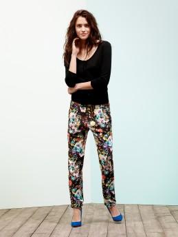 Pantaloni stampa fiori Motivi primavera estate 2014