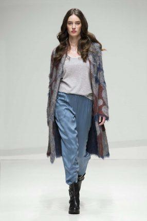 Pantaloni turchesi Stefanel autunno inverno 2017