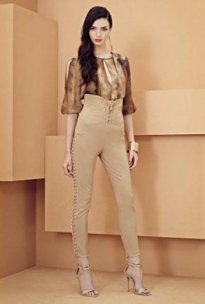 Pantaloni vita alta Elisabetta Franchi primavera estate
