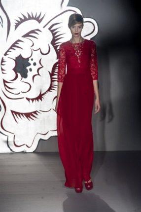 Paola Frani autunno inverno 2013 2014 abito rosso