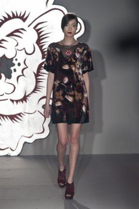 Paola Frani autunno inverno 2013 2014 abito stampato